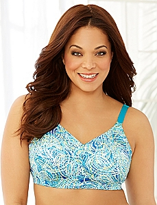 Triple Paisley No-Wire Back-Smoother Bra