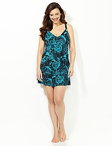Swirl Drop Swimdress