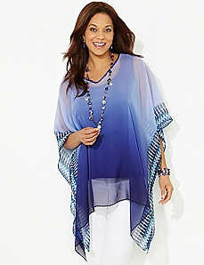 Aerial Ombre Poncho