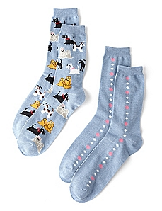 Dogs & Dots 2-Pack Socks