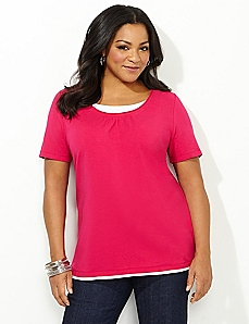 Suprema Layered-Look Tee