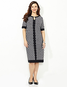 Diamond Pane Shift Dress