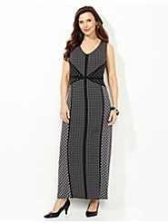 Geo Mix Maxi Dress