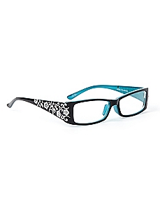 Etched Iris Reading Glasses