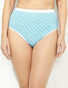 White Eyelet Cotton Hi-Cut Brief