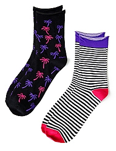 Bright Palm 2-Pack Socks