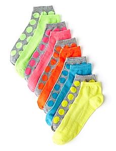 Neon 10-Pack Socks