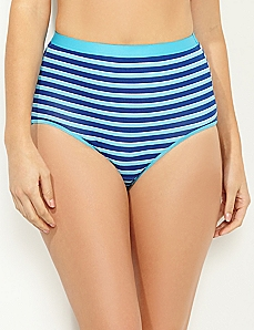 Blue Stripe Cotton Full Brief