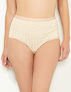 Almond Tile Burst Cotton Full Brief