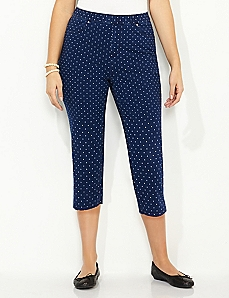 Knit Dot Capri
