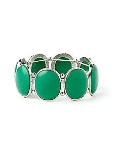 Evergreen Oval Bracelet