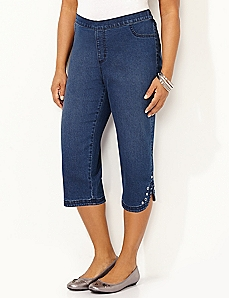 Studded Timeless Fit Capri