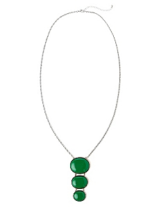 Evergreen Oval Necklace