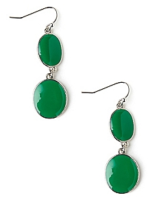 Evergreen Oval Earrings