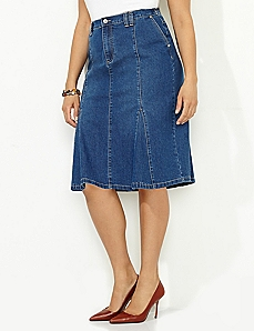 Twirl Denim Skirt