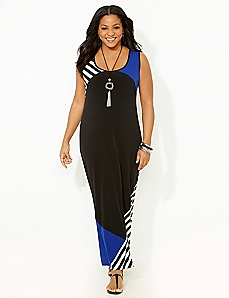 Solid & Stripe Colorblock Maxi