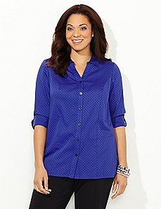 Sateen Pindot Blouse