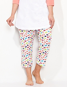 Butterfly Slim Leg Sleep Capri