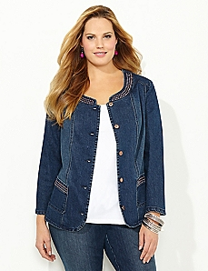 Jewelshine Denim Jacket