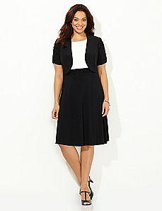 Delightful Contrast Jacket Dress