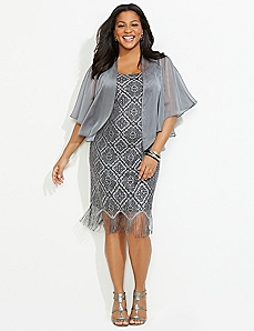 Fringe Finish Jacket Dress