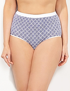 Amethyst Eyelet Cotton Full Brief