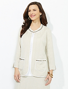 Antiqued Linen Jacket