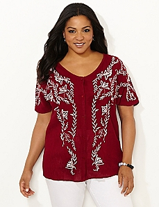 Ocala Embroidered Top