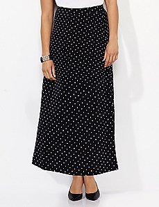 Polished Dot Maxi Skirt