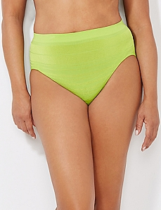 Lush Green Seamless Shadow Stripe Hi-Cut Brief