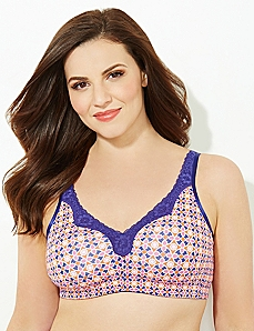 Electric Mosaic No-Wire Cotton Comfort Bra