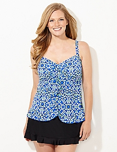 Geo-Dragonfly Swim Top