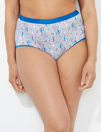 French Bulldog Cotton Full Brief Catherines
