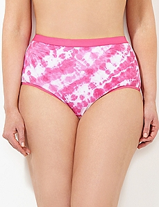 Pink Tie-Dye Cotton Full Brief