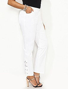 Lace-Up Sateen Pant
