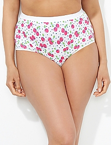 Cheerful Cherries Cotton Full Brief