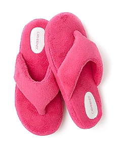 Plush Neon Slippers