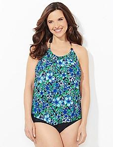 Floral Link Swim Top