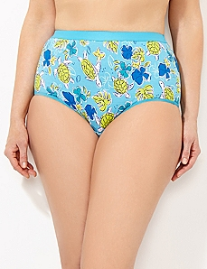 Sea Turtle Cotton Full Brief