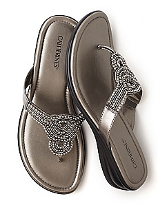 Beaded Thong Sandal