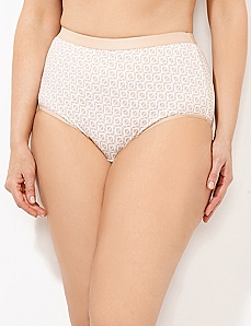 Almond Geo-Triangle Cotton Full Brief