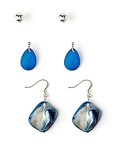 Fresh Water Trio Earrings