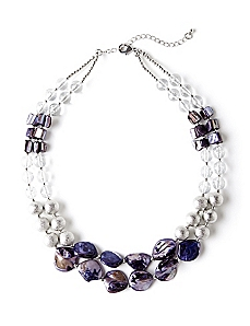 Two-Row Laguna Shell Necklace