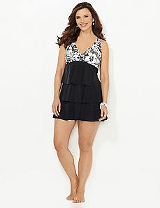 Bonaire Tiered Swimdress