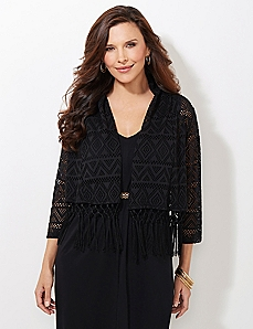 AnyWear Fringe Beaux Mondes Cardigan