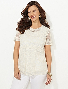 Aztec Lace Top