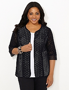 Eyelet Emphasis Jacket