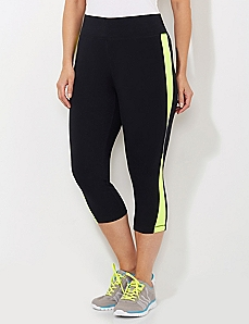 Neon Piped Capri