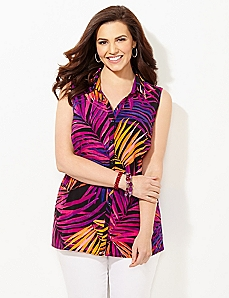 Palm Desert Hi-Lo Blouse