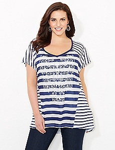 Stripe Silhouette Top